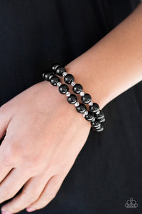 BALLROOM and Board - Black Paparazzi Jewelry Bracelet paparazzi accessories jewelry Bracelet
