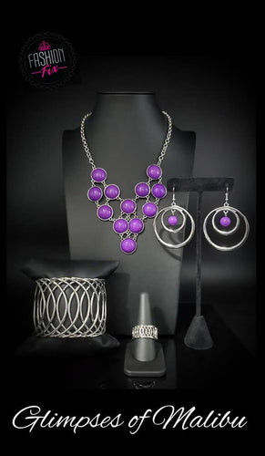 Glimpses of Malibu - Complete Trend Blend July 2019 Paparazzi Jewelry Fashion Fix Set paparazzi accessories jewelry Necklaces