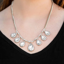 Load image into Gallery viewer, Love at Fierce Sight - Silver White Rhinestone Paparazzi Jewelry Necklace paparazzi accessories jewelry Necklaces