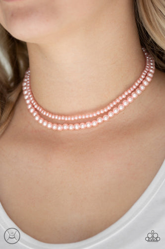 Ladies Choice - Pink Pearl Paparazzi Jewelry Necklace paparazzi accessories jewelry Necklaces