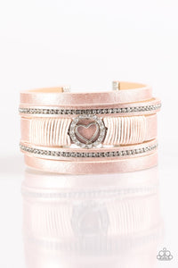 It Takes Heart - Pink Urban Paparazzi Jewelry Bracelet paparazzi accessories jewelry Bracelet