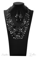 Load image into Gallery viewer, Black Rhinestone Crystal Hematite Fringe 2019 Signature Zi Collection Paparazzi Jewelry Necklace
