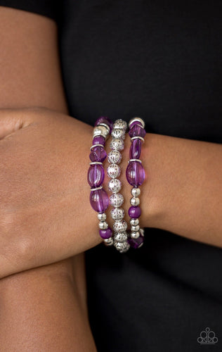 Malibu Marina - Purple Paparazzi Jewelry Bracelet paparazzi accessories jewelry Bracelet