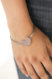 Paparazzi Accessories - Heart-Stopping Shimmer - Pink Bracelet