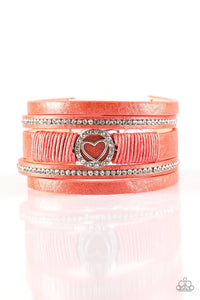 It Takes Heart - Orange Urban Paparazzi Jewelry Bracelet paparazzi accessories jewelry Bracelet