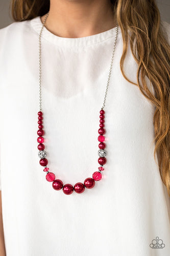 The Wedding Party - Red Pearl Paparazzi Jewelry Necklace paparazzi accessories jewelry Necklaces