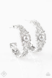 Exquisite Expense - Silver Paparazzi Jewelry Earrings paparazzi accessories jewelry Earrings