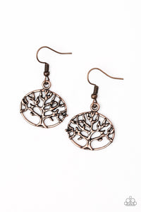 buy Dream TREEHOUSE - Copper Paparazzi Jewelry Earrings onlineEarringsantiqued, branches, copper, dainty, earrings, paparazzi, shimmer, tree, whimsical