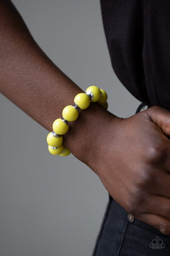Candy Shop Sweetheart - Yellow Paparazzi Jewelry Bracelet paparazzi accessories jewelry Bracelet