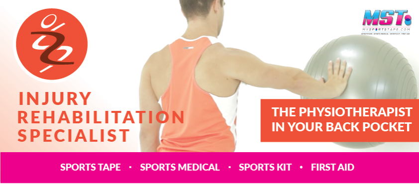 IRS injury rehabilitation specialist physio in your back pocket by mst mysportstape my sports tape
