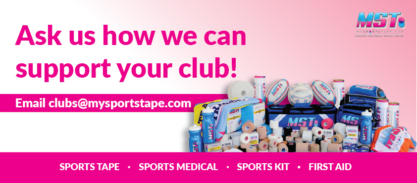 Sports club support and sponsorship by my sports tape
