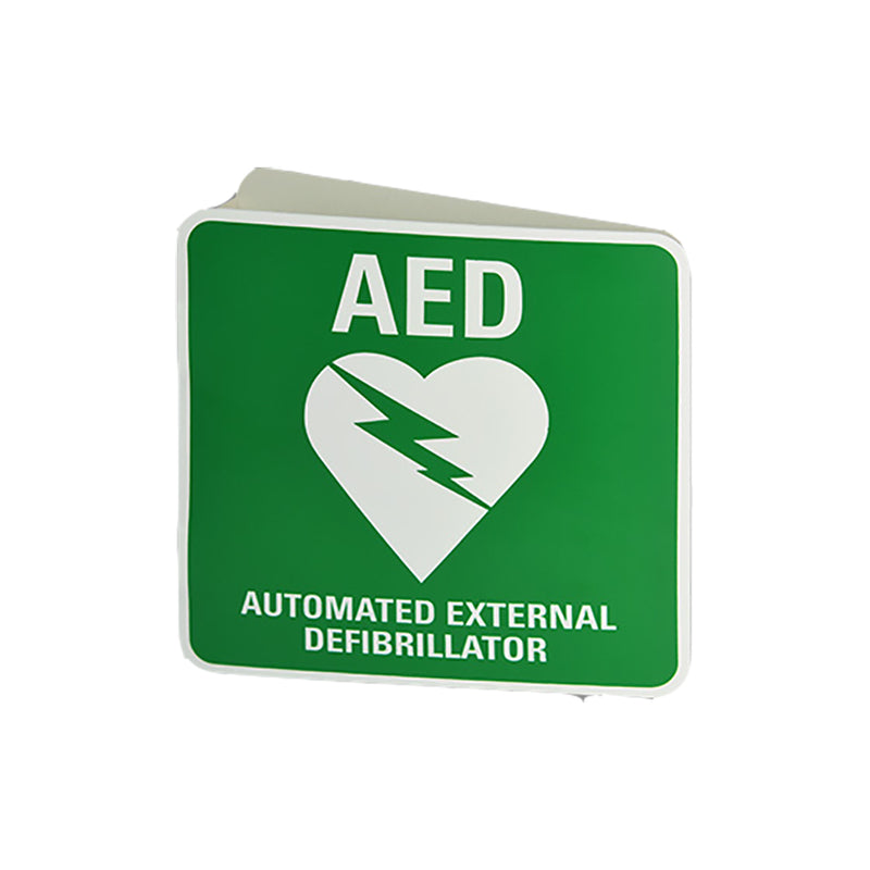 AED Wall Mount 3D Angle Bracket Sign (Poly)