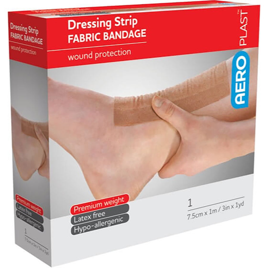 aero plast fabric wound protection strip 7.5cm x 1m