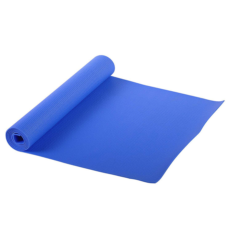 blue fitness yoga mat