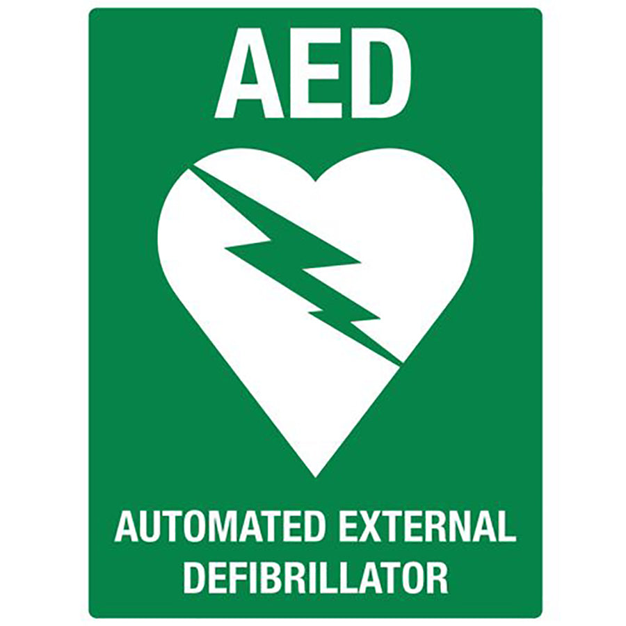 AED Flat Wall Sign (Poly)