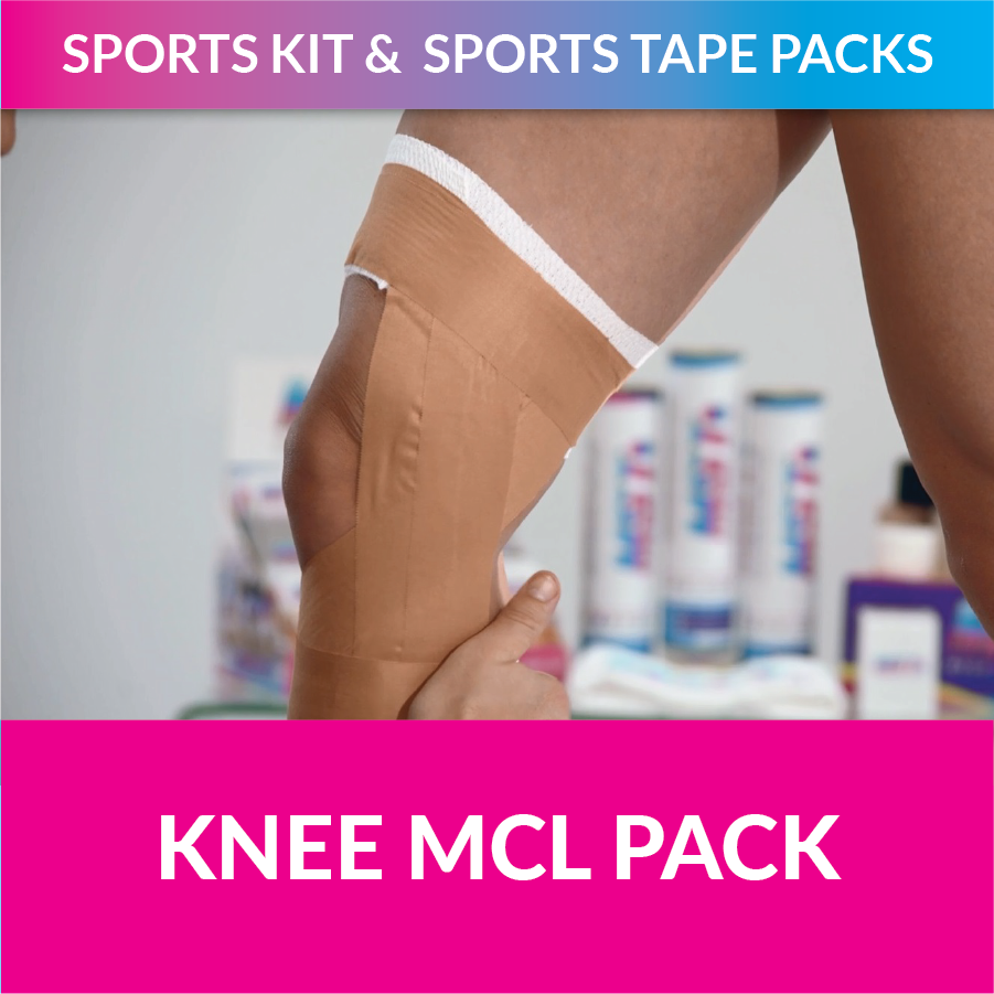 MST my sports tape knee pack strappt app michelle jenneke