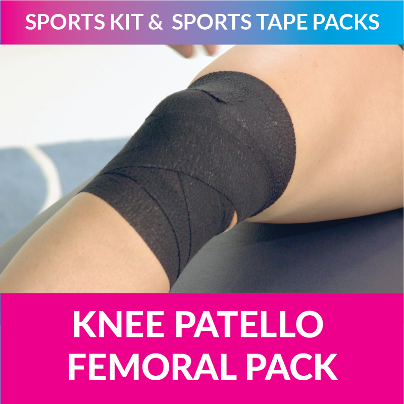 MST my sports tape knee patello formal pack strappt app michelle jenneke