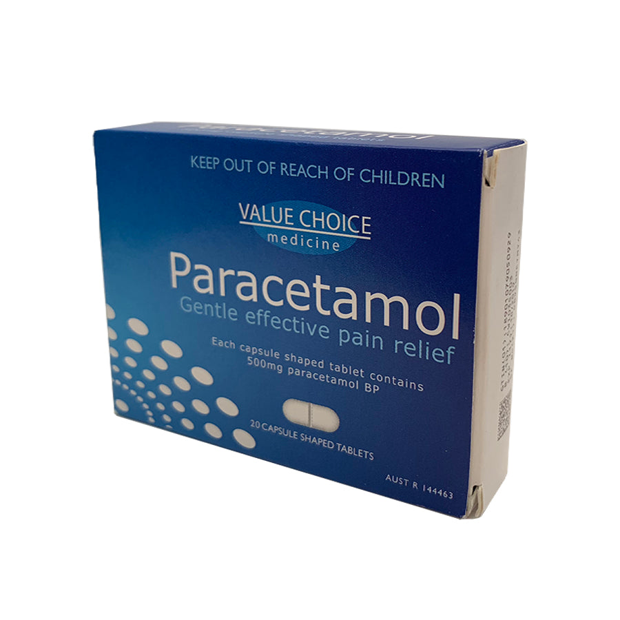 Paracetamol Tablets - 500mg (20 Tablets)