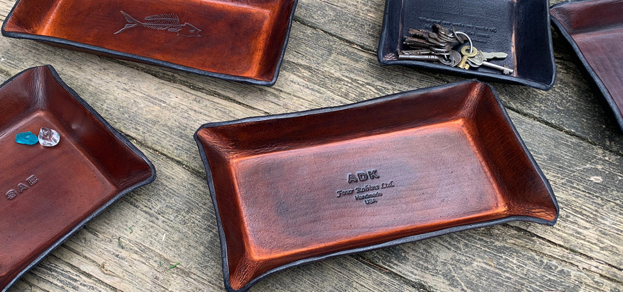 Leather Valet Trays and Gifts from Four Robins