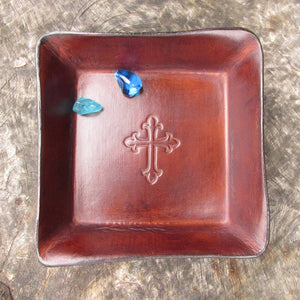 Religious Gifts. Leather Trays. Four Robins Ltd.
