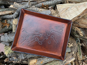 Limited edition San Pedro Leather Paper Tray
