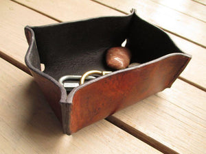 leather gifts for men hand sewn brown leather box