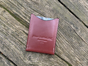 Simple leather credit card wallet. With logo.