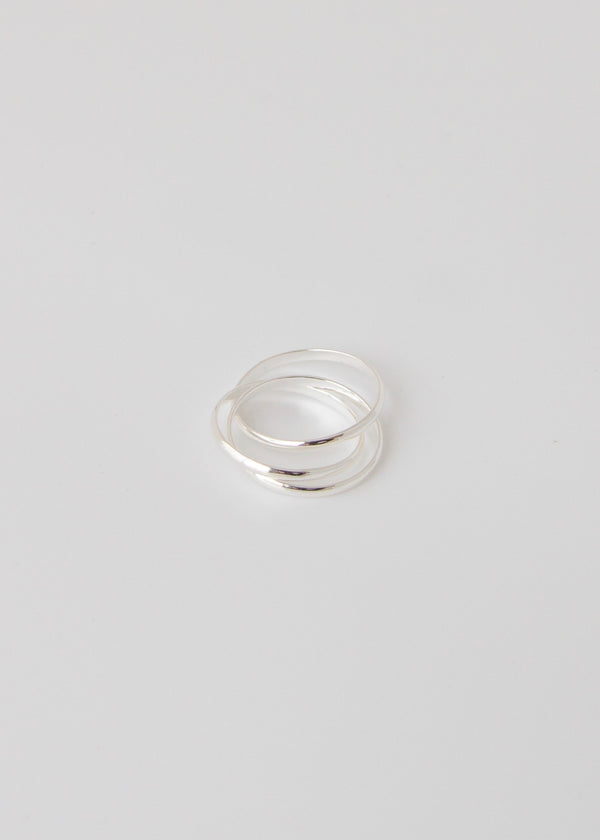 Trinity White Gold Trio Ring - AURORI