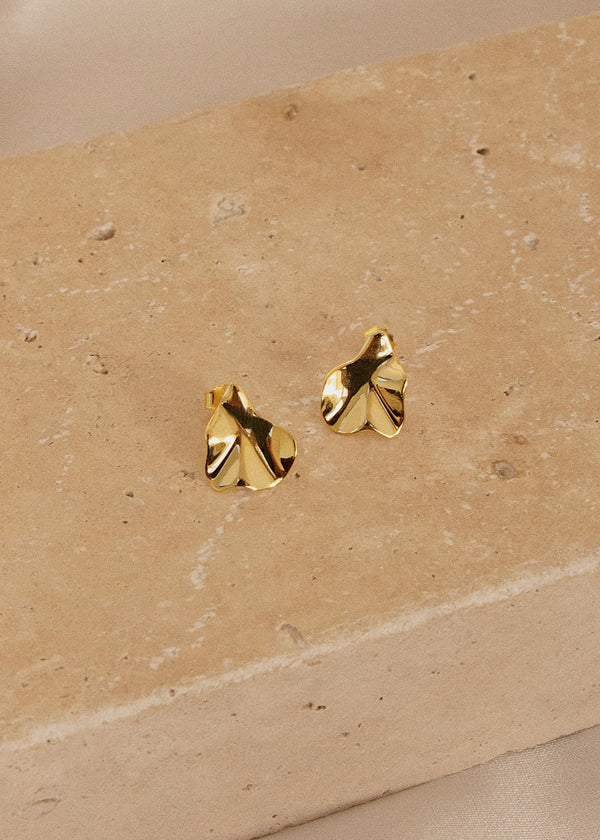 Elena Gold Foil Earrings - AURORI