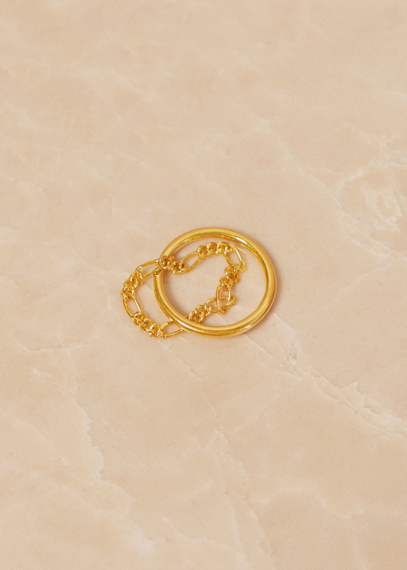 Bailey Twisted Chain Gold Ring - AURORI