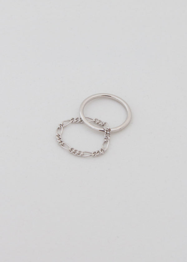 Bailey Twisted Chain Silver Ring - AURORI