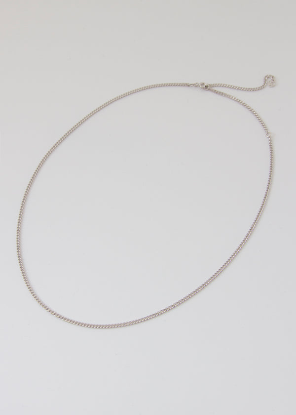 Ella Silver Curb Chain Necklace - AURORI