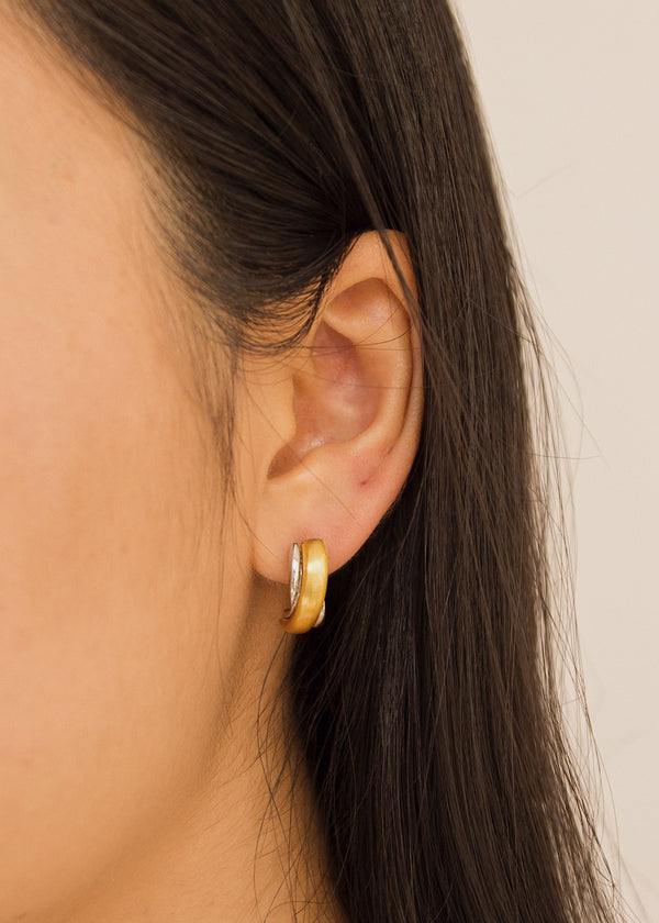 Gold and Silver Duo Tone Earring - AURORI