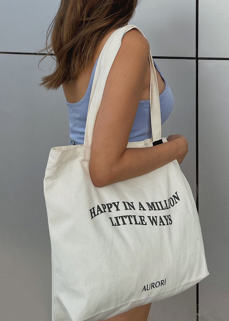 Happy In A Million Little Ways Tote - AURORI