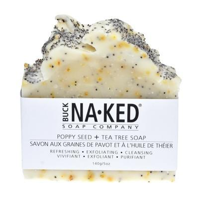 Buck Naked Soap Company - Poppy Seed & Tea Tree Soap - 140g/5oz