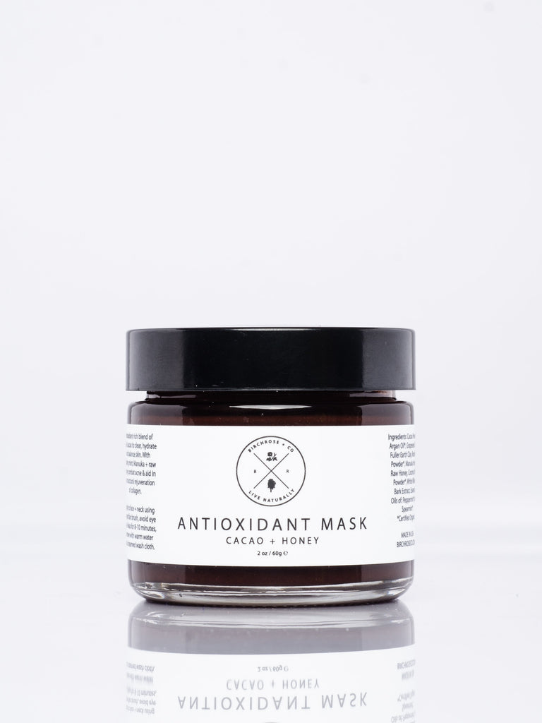 natural beauty cocoa and honey face mask
