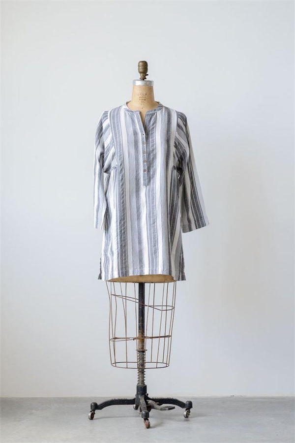 Cotton Broad Stripe Shirt