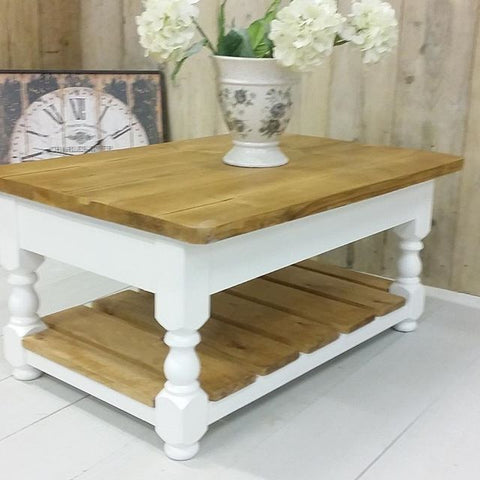 Country coffee tables: made from reclaimed wood, prices from £245.