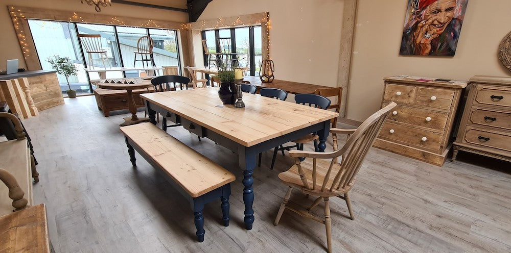 Our range of country style furniture in our showroom