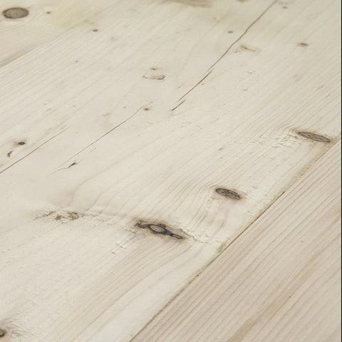 reclaimed farmhouse table - wood close up