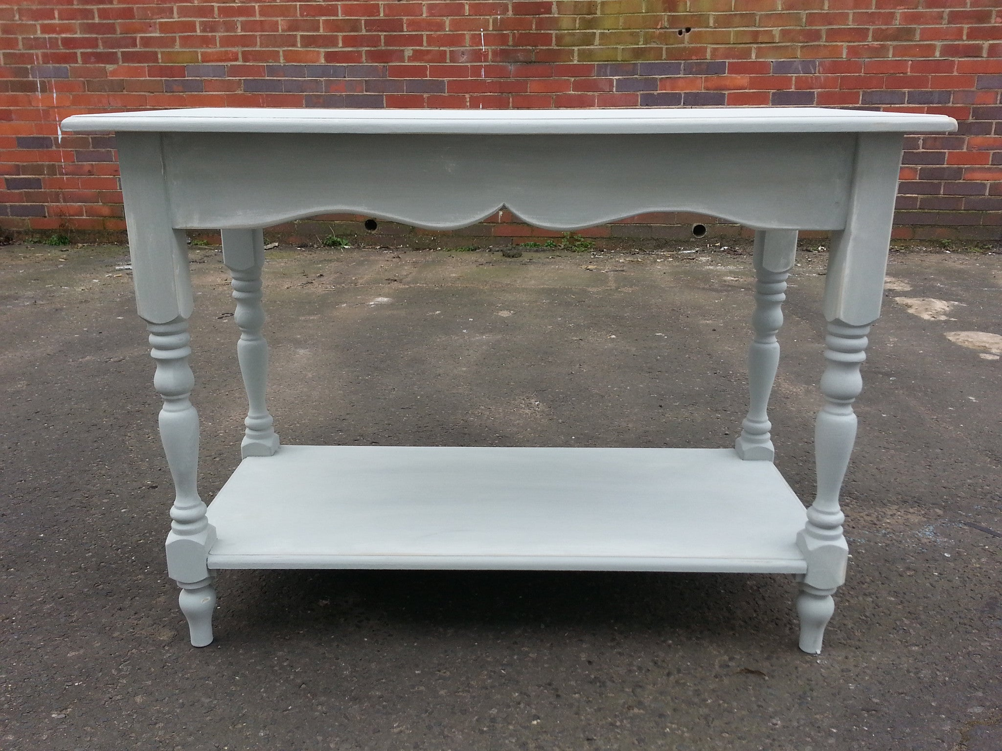 Shabby Chic Console Table Shabby Chic End Table Painted And