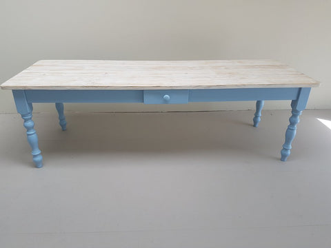 The 'Lulworth Blue' table - Made From Reclaimed Wood (Distressed Wooden Top)