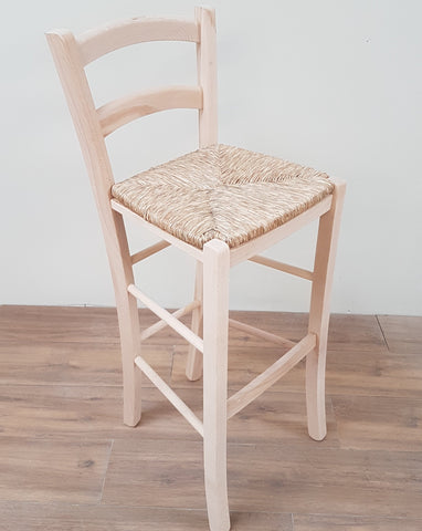 High Back Stools with rush seat - Country Life Furniture - Quality Interiors