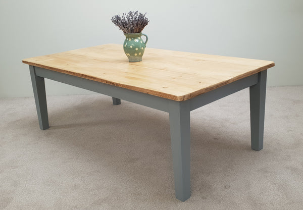 The 'Manor House' Table with tapered legs - Made From Reclaimed Wood (Distressed Wooden Top)