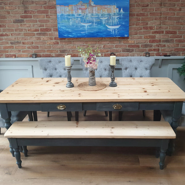 The 'Orchid' table  - Made From Reclaimed Wood (Distressed Wooden Top)