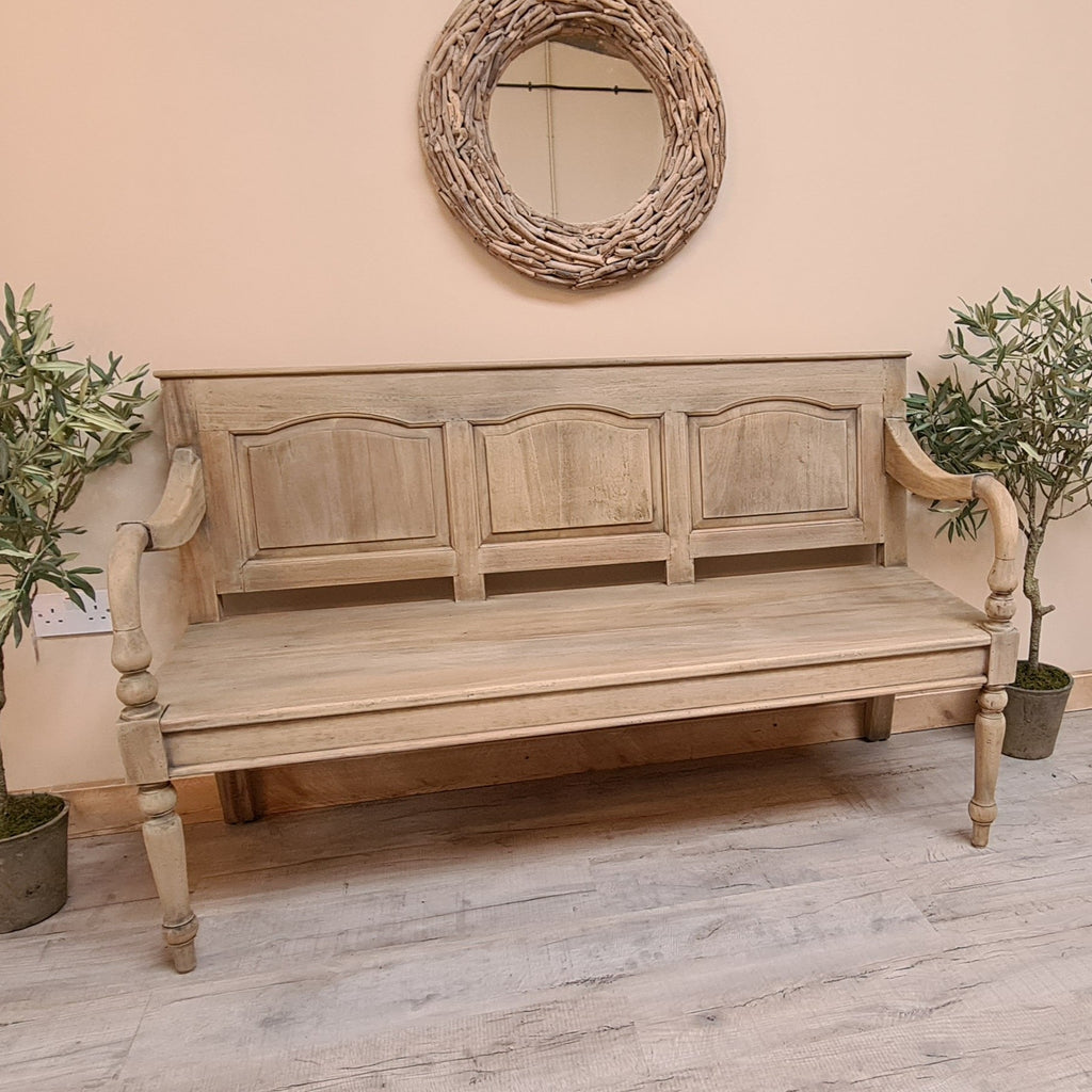 Vintage Bench with Back