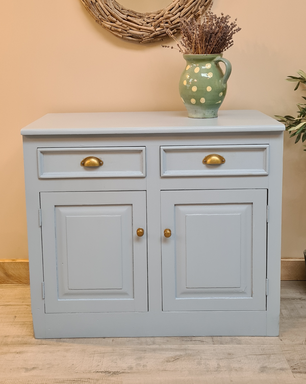 Antique Sideboard painted in 'Lulworth blue'