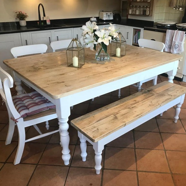 Traditional farmhouse table - painted in 'Pointing'