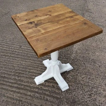 Square Pub Table Made From Reclaimed Wood - Country Life Furniture - Quality Interiors