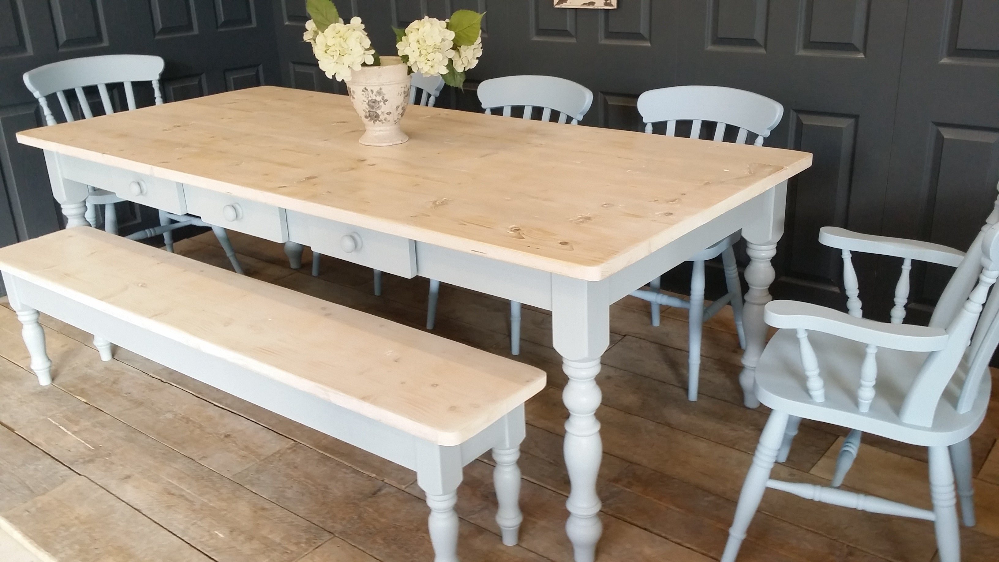 Country Kitchen Dining Table Bespoke Farmhouse Dining Tables Handmade With Rustic Reclaimed